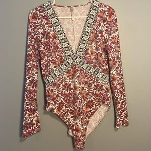 FreePeople Floral Bodysuit